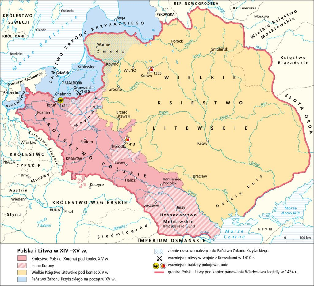 POLAND [1300s - 1400s] Poland and Lithuania | MAPS | Poland map ...