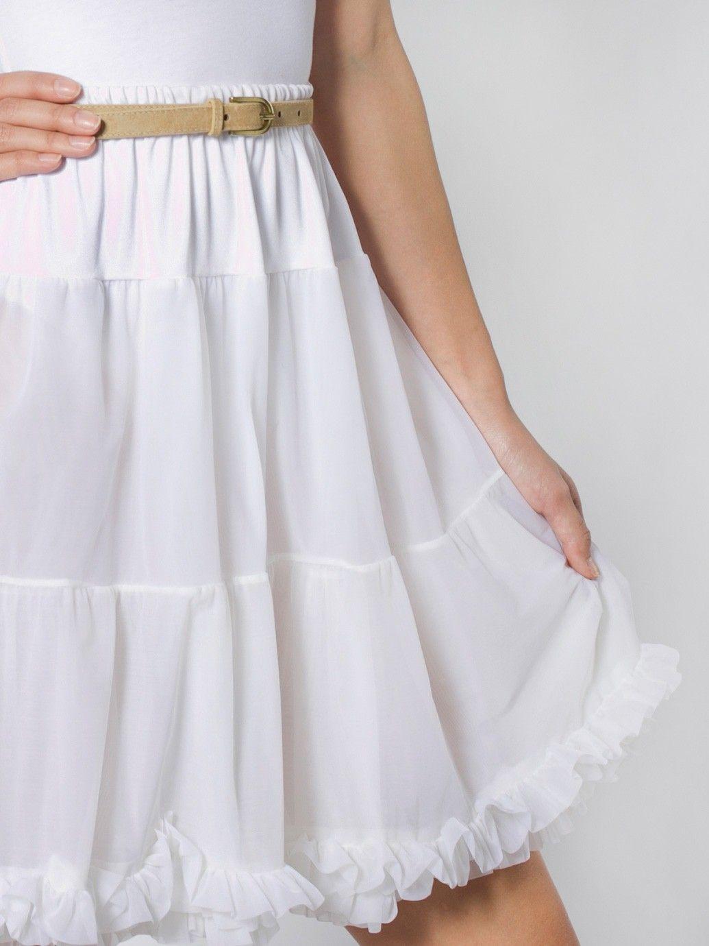 Petticoat Slip Skirt | Knee-Length | Women's Skirts | American Apparel