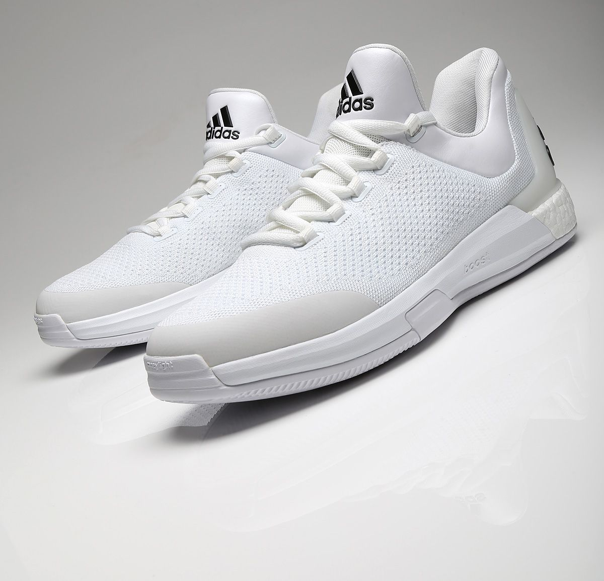 new concept 1ed28 ae32e PE Spotlight  James Hardens All-White adidas Crazy Light Boost PE