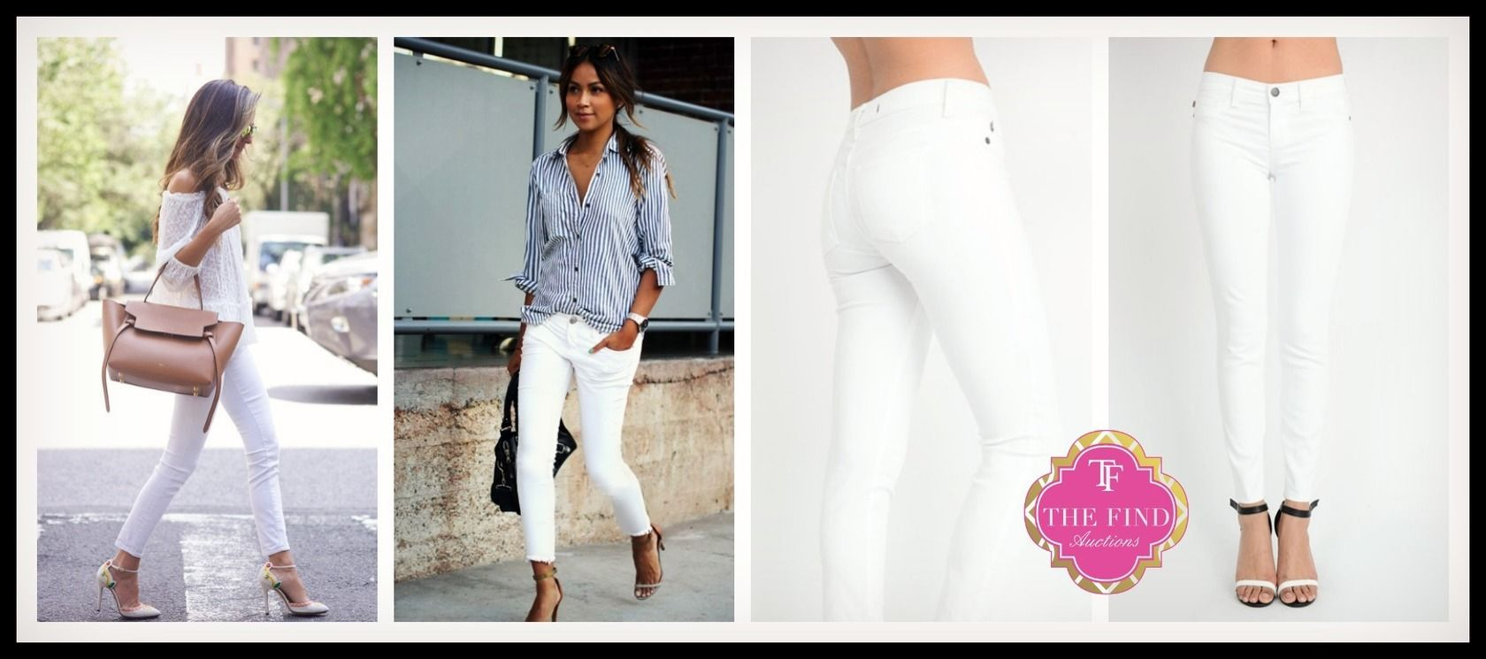 Oxford Jeans in White