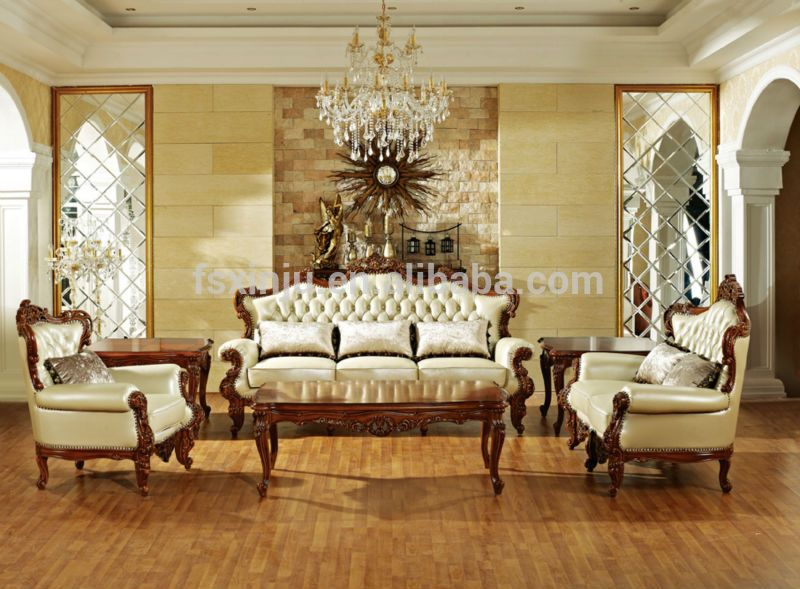 Hotel Furniture/ Luxury Italian Sofas For Sale/ 2014 Wooden Classic Sofa  Arab Style Living Room Furniture Part 42