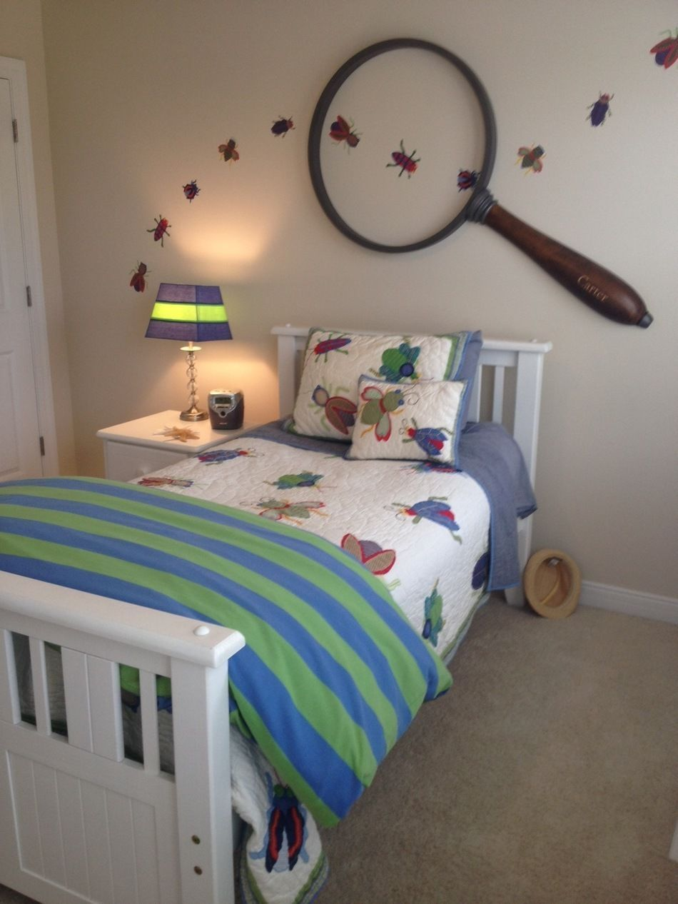 Details about Pottery Barn Kids Max Bug Twin Bedding Set