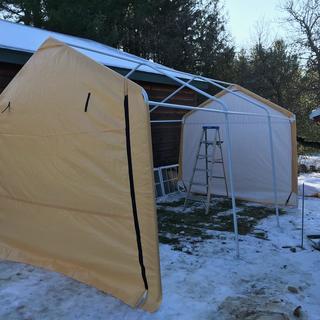 10 ft. x 17 ft. Portable Garage in 2020 Portable garage
