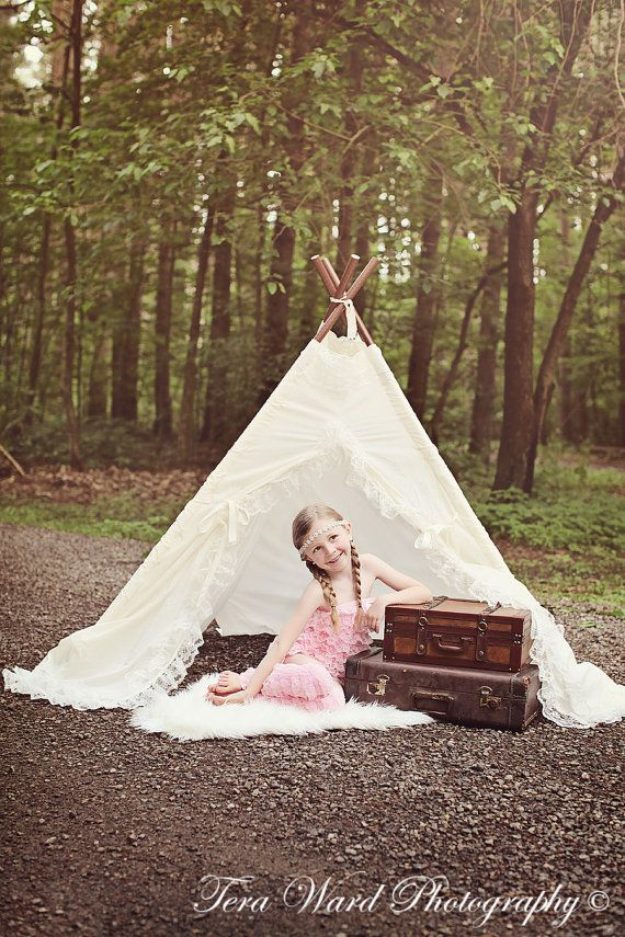 lace teepee tent photo prop via Etsy