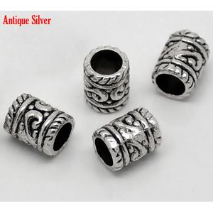 Image of 1000PCs Ornate Carved Tube Spacers Beads 6*8mm