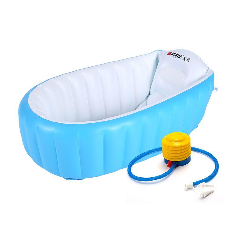 Baby Bathtub Children Bath dish Inflatable Bathtub Childtub Cushion ...