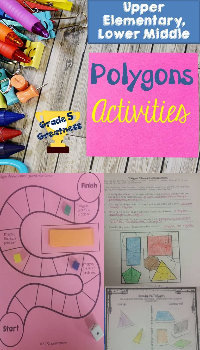 Polygons Activities and Math Games | Math, Activities and Students