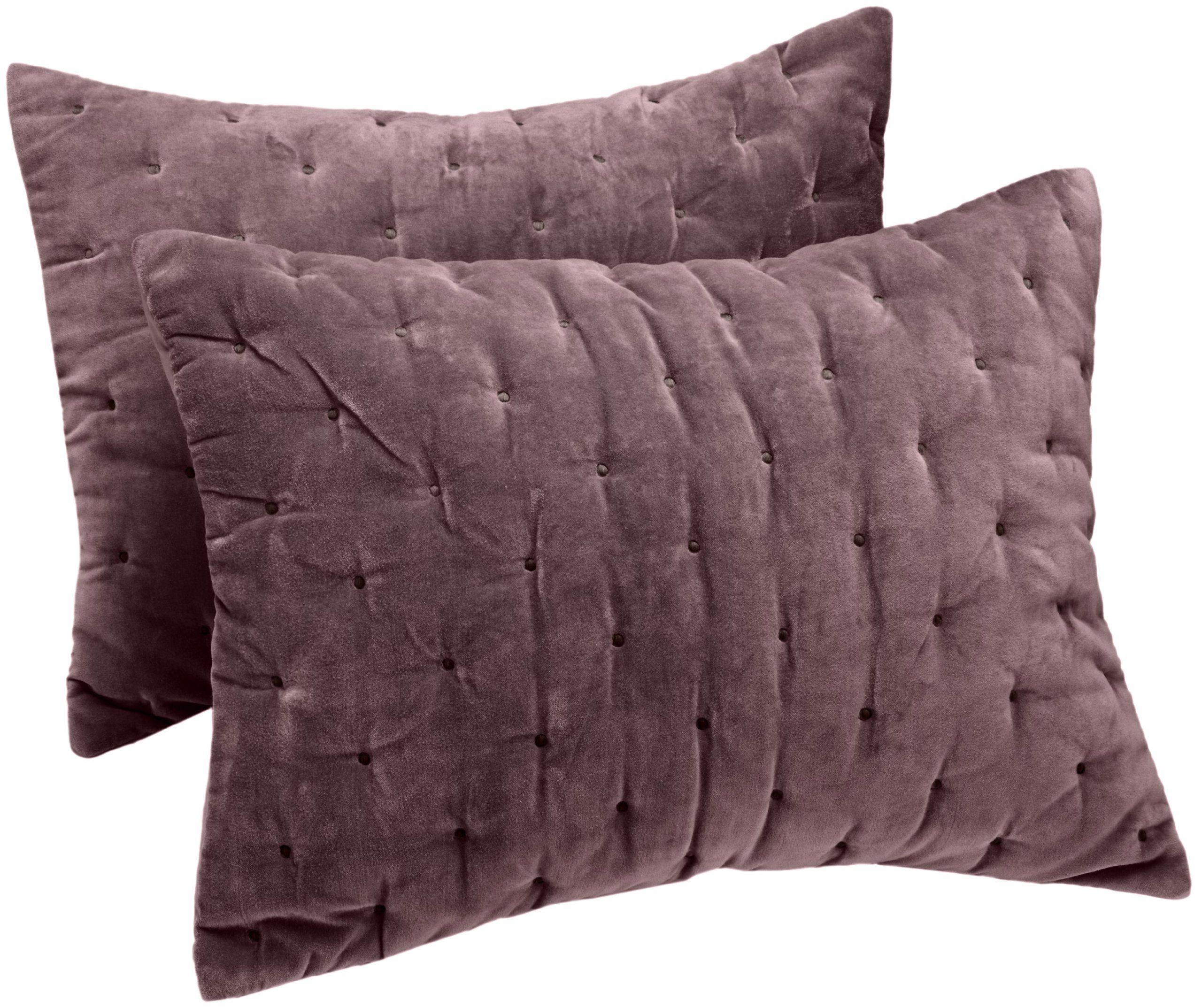 Amazon Pinzon Signature Velvet Cotton King Sham Plum Gray