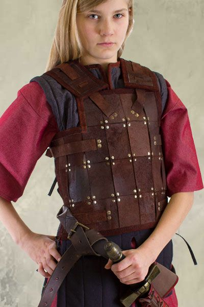 viking women larp armor | RFB Fighter Leather LARP Armour