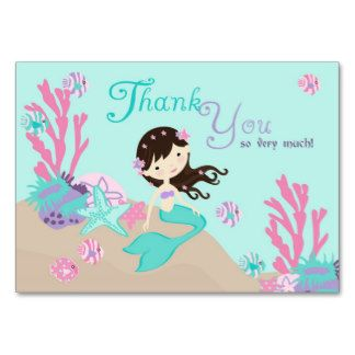 Little Mermaid TY Gift Tag L2 Brunette Large Business Card