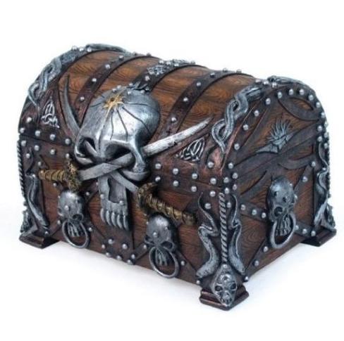Skull Chest Crossed Jewelry Box Pirate Treasure Chest Pirate Treasure Treasure Chest