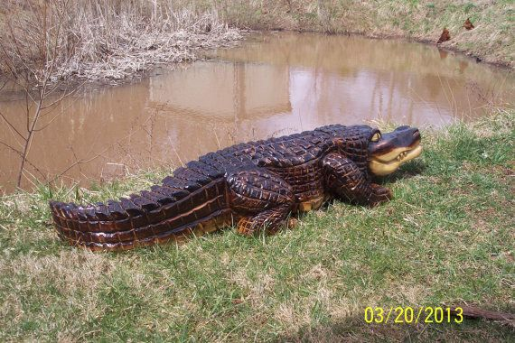 Chainsaw carving vyrezávané alligator veci