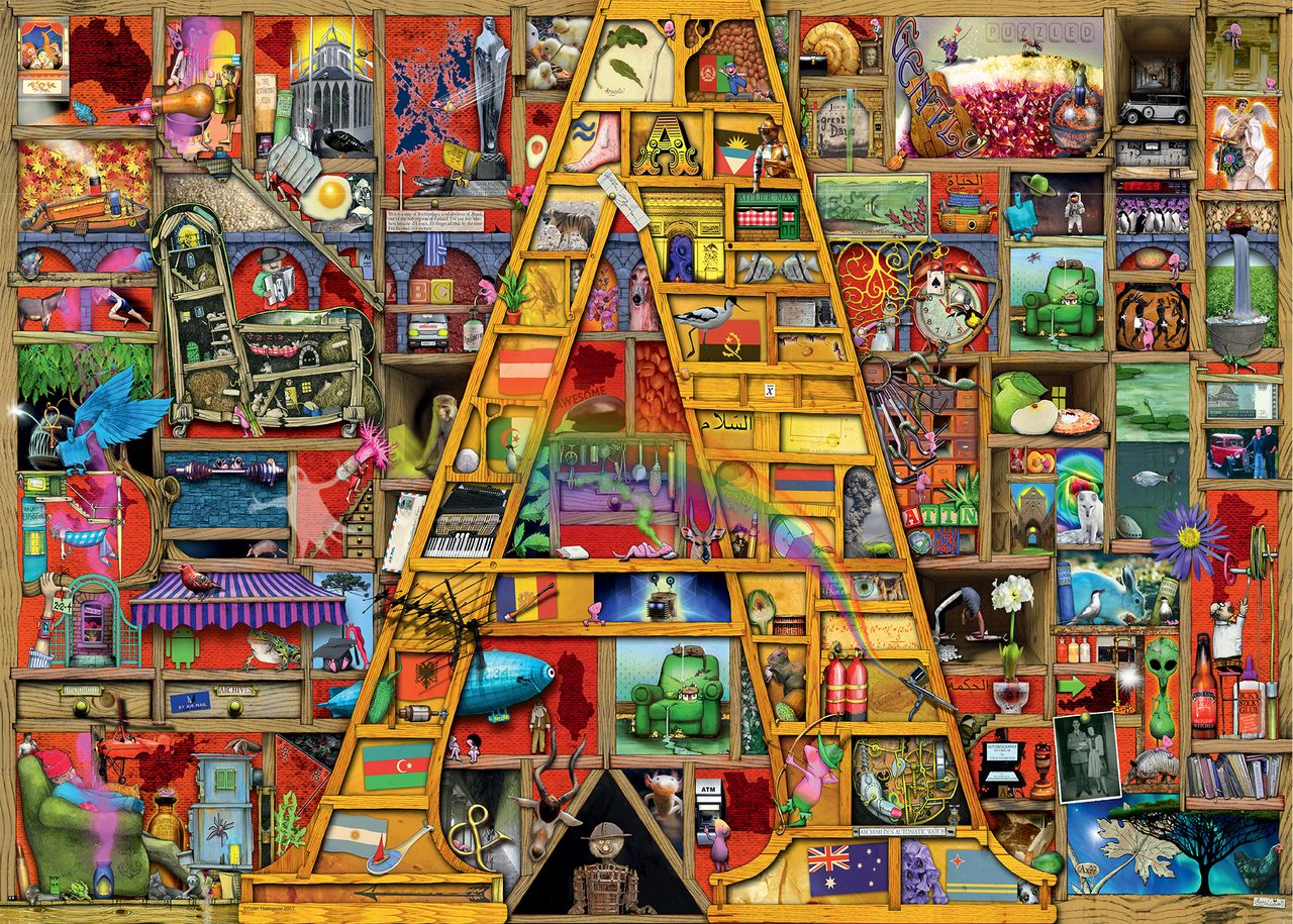 Awesome Alphabet A - 1000pc Jigsaw Puzzle By Ravensburger in