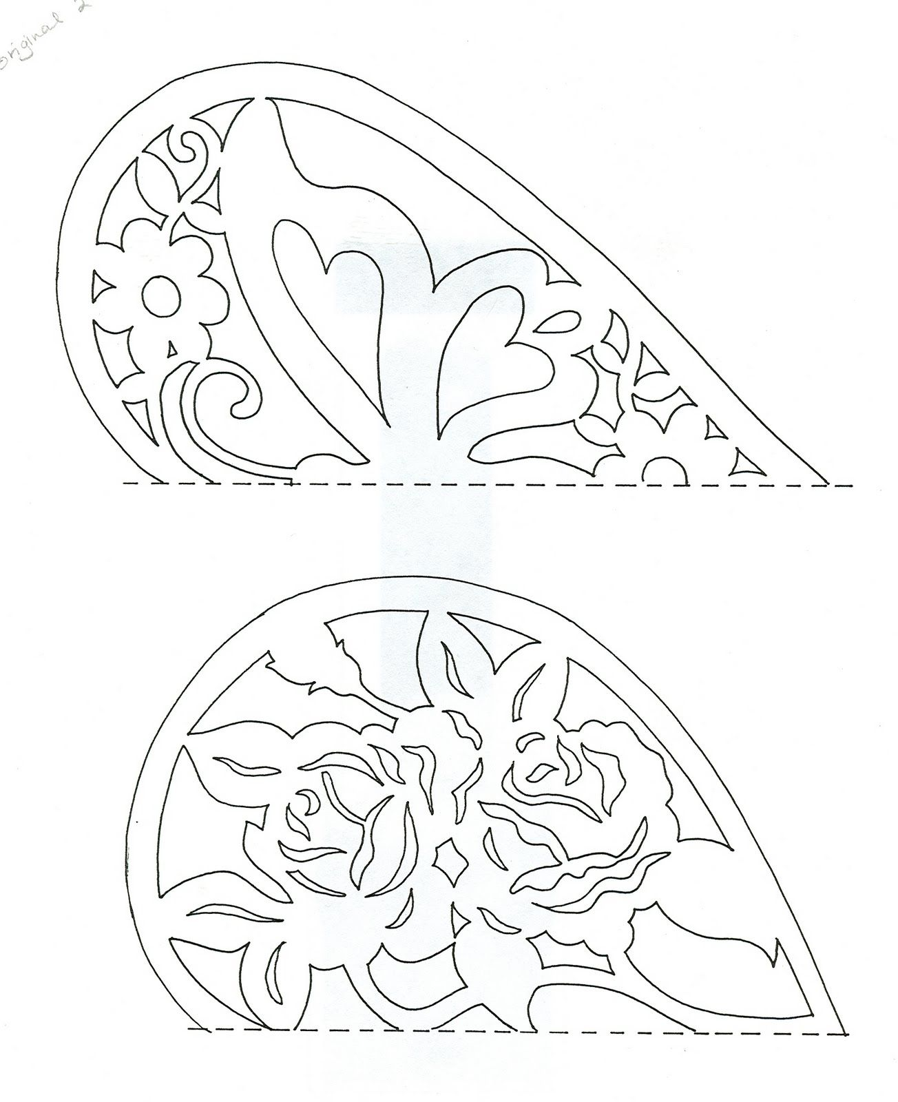 graphic regarding Papel Picado Template Printable named Butterfly middle and flower middle Routine Scherensnitte extremely
