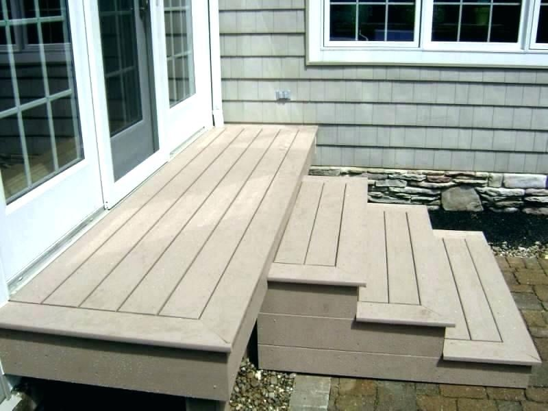 Wood Over Concrete Step Porch In 2021 Trex Stairs Deck Composite Decking