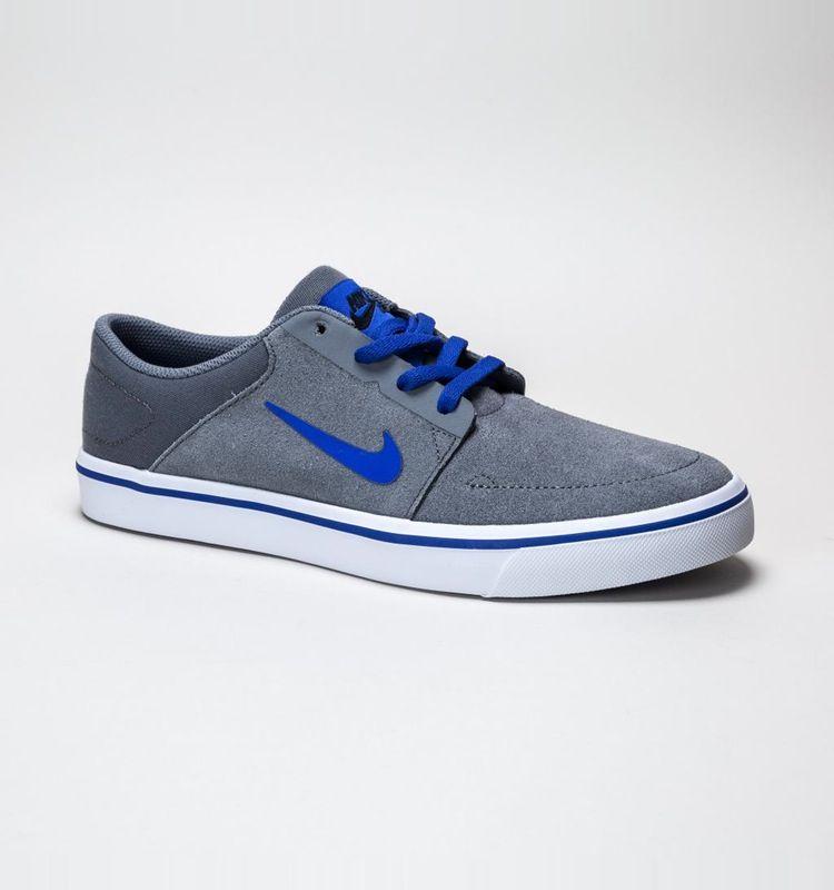 Nike SB Portmore (GS) Cool Grey-Racer Blue-Black