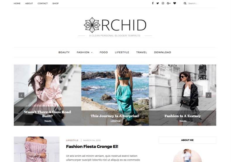 Orchid Fashion Blogger Template Web graphics theme wp free - fashion blogger templates