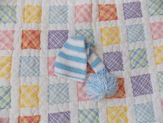blue elf hat by teeniweenitotfashion on Etsy, $10.00