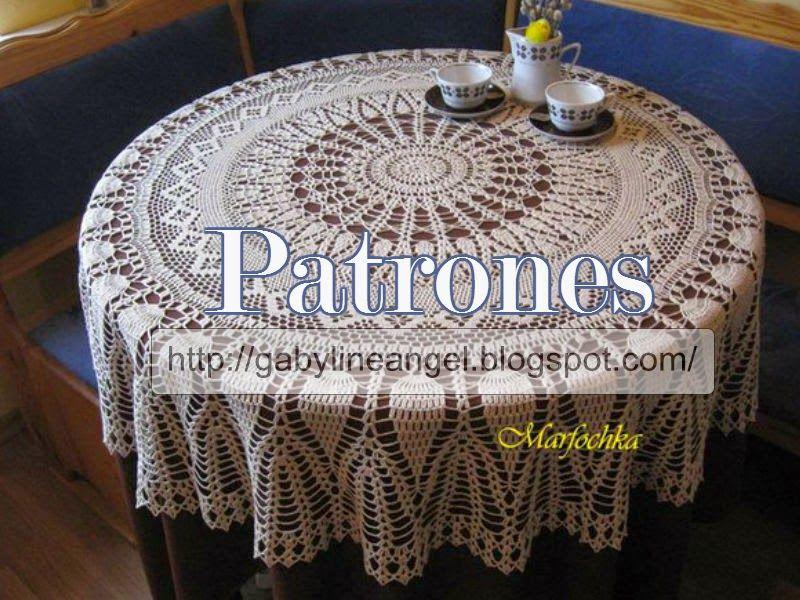 Delicadezas en crochet Gabriela: Mantel redondo ganchillo en hilo de ...