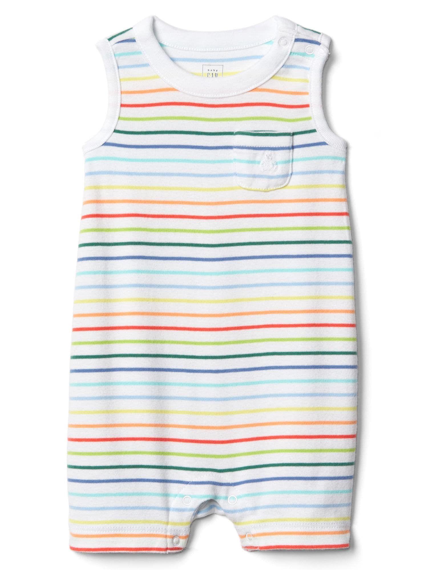 Baby Gap Boys 12-18 Months Outfit Gap Logo Striped Shirt /& Cargo Shorts Nwt