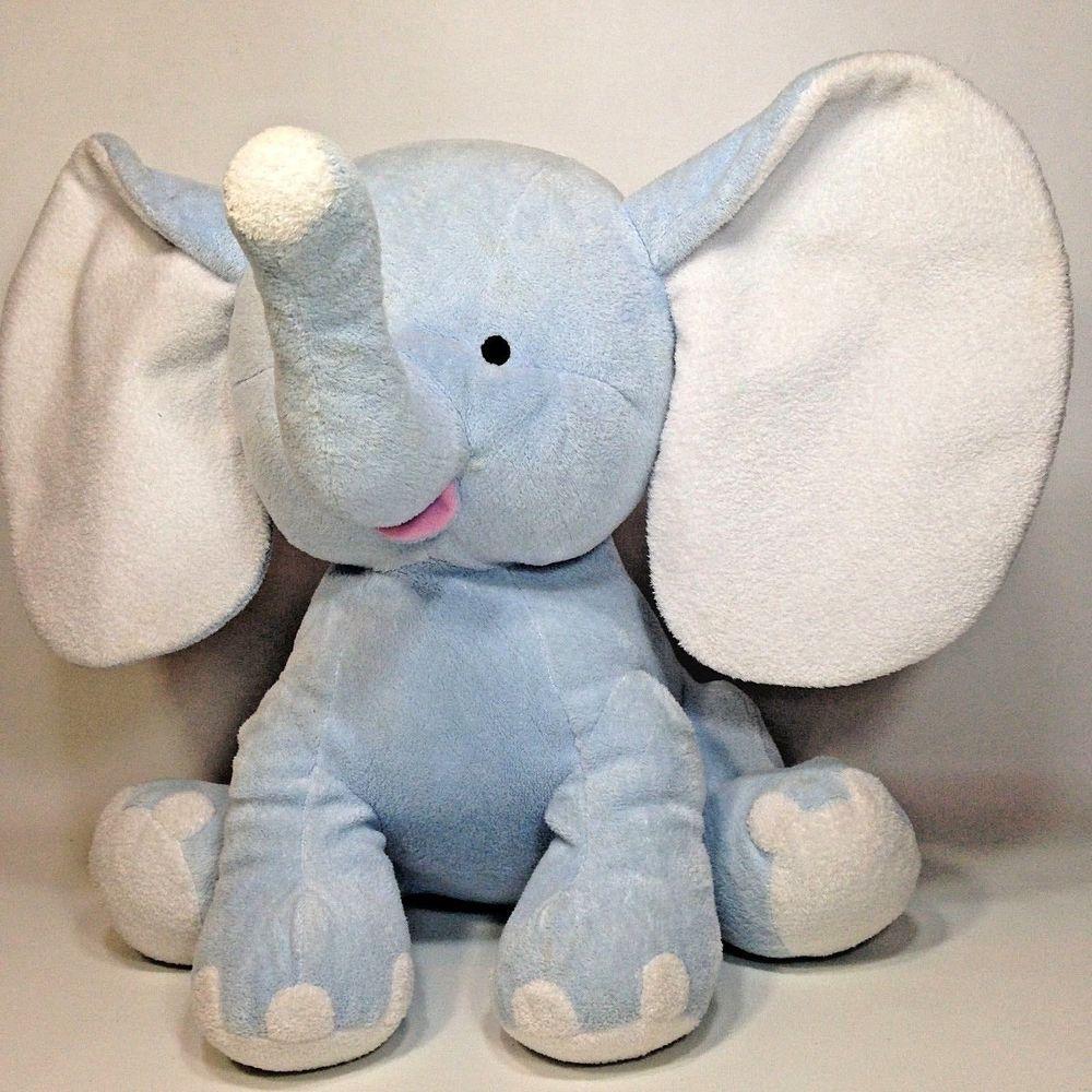 Burton Burton Blue Baby Buddy Elephant Plush Large 16 Sewn Eyes 2005 Toy Burtonburton Elephant Plush Toys Plush