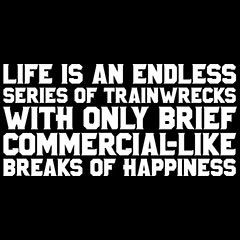 Trainwreck Quotes Custom Life Is An Endless Series Of Trainwrecks With Only Brief Commercial .