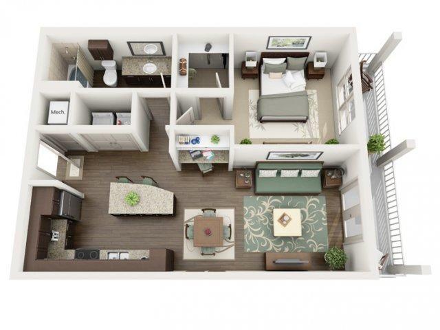 Azure Saint Petersburg Fl 33716 Hotpads Apartment Layout Apartment Floor Plans Dorm Design