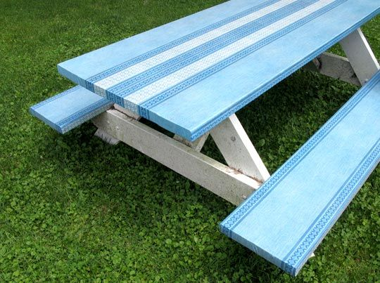 How To Spruce Up A Picnic Table For The Home Outdoor
