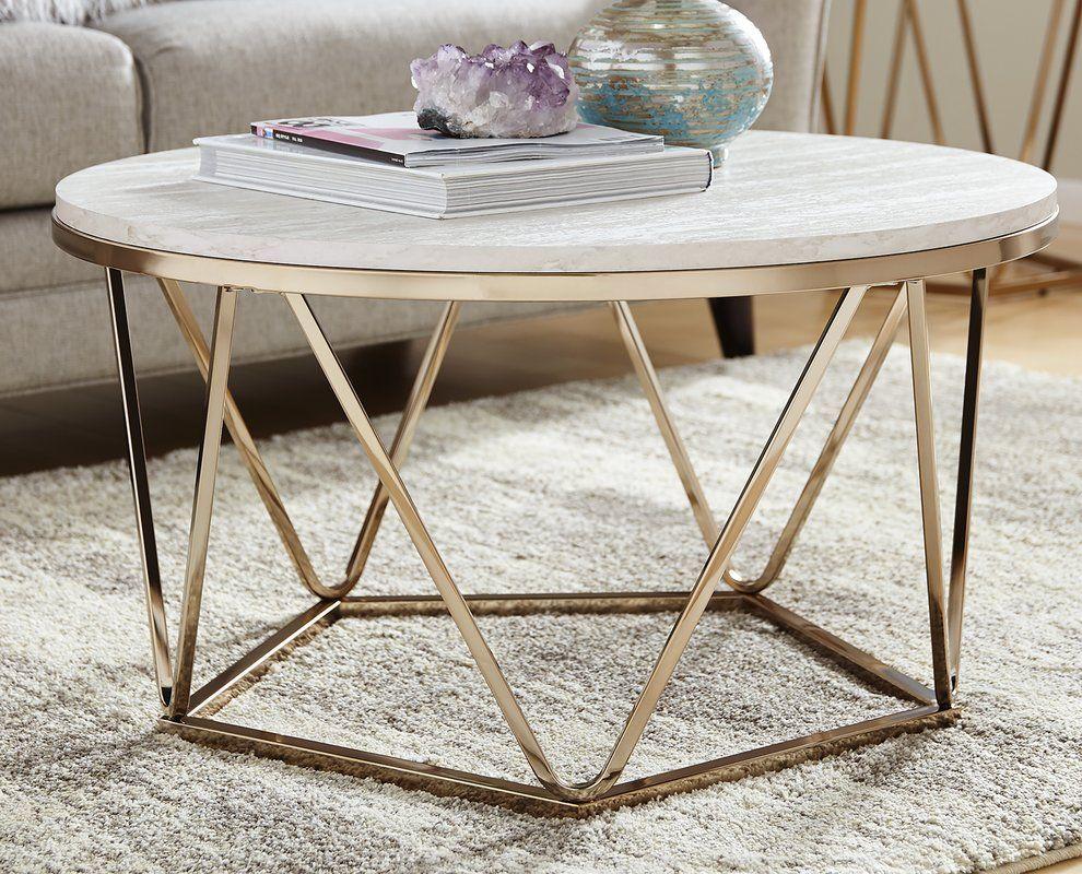 Table Basse Ronde Art Deco quartz coffee table   decoration salon, déco salon, meuble