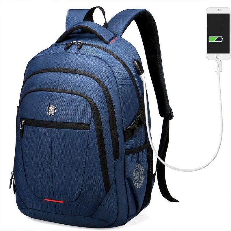 3b655f499 Mochila Masculina Carregador USB Interno Trabalho Viajem Notebook ...