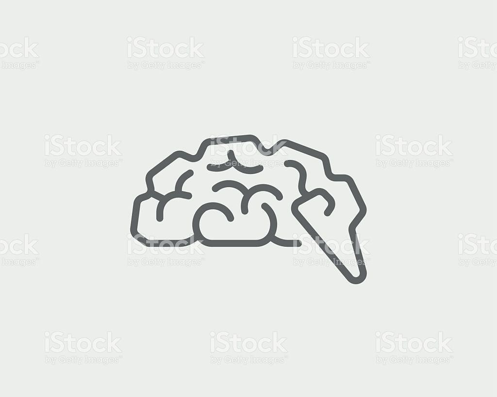 Abstract Brain Logo Generate Idea Design Template