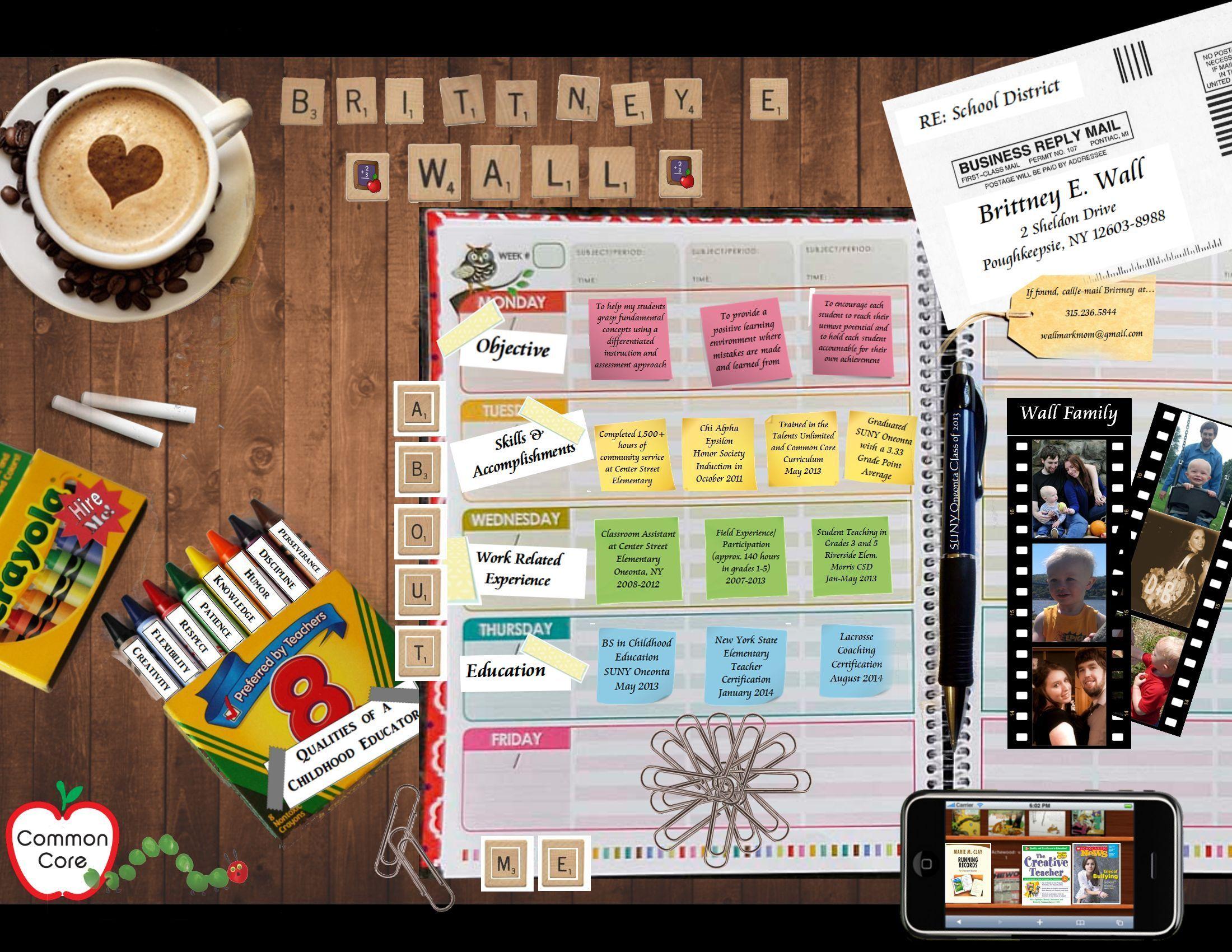 Creative Resume For An Elementary School Teacher Position