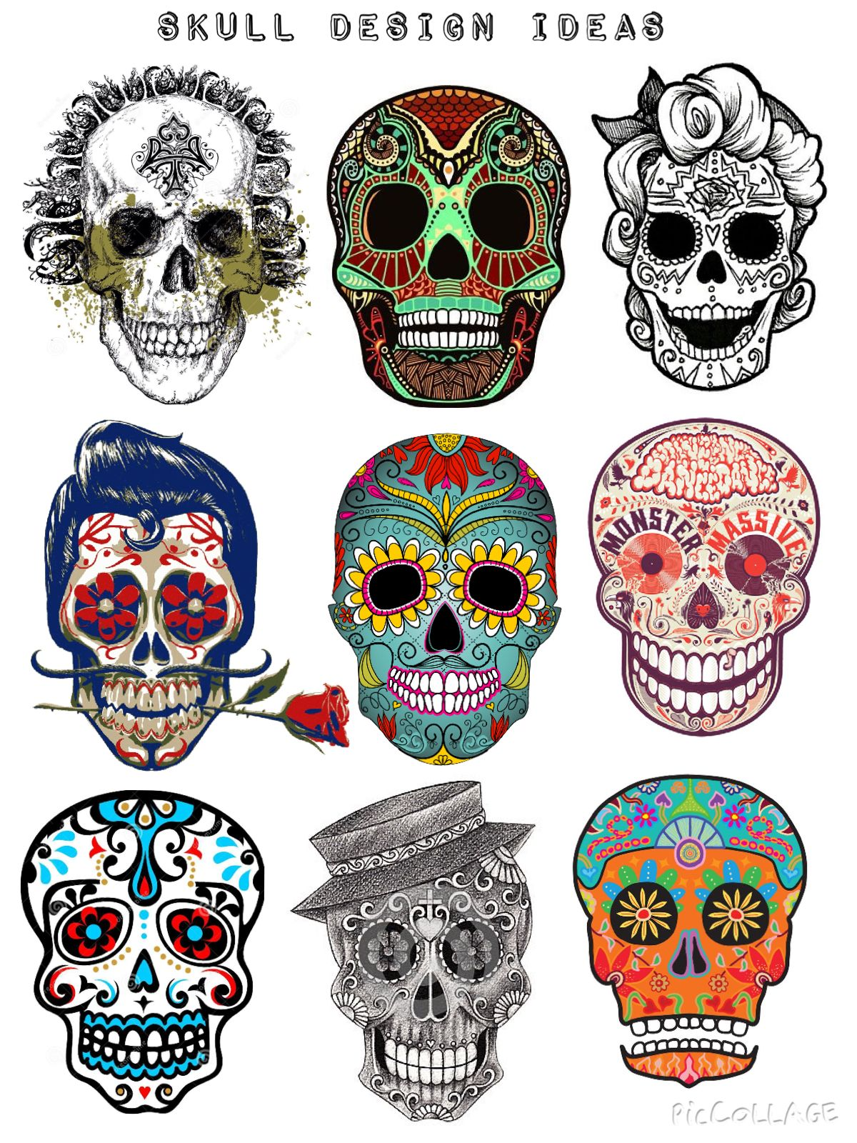 Design Ideas Part 2 Mexican Day Of The Dead Skull