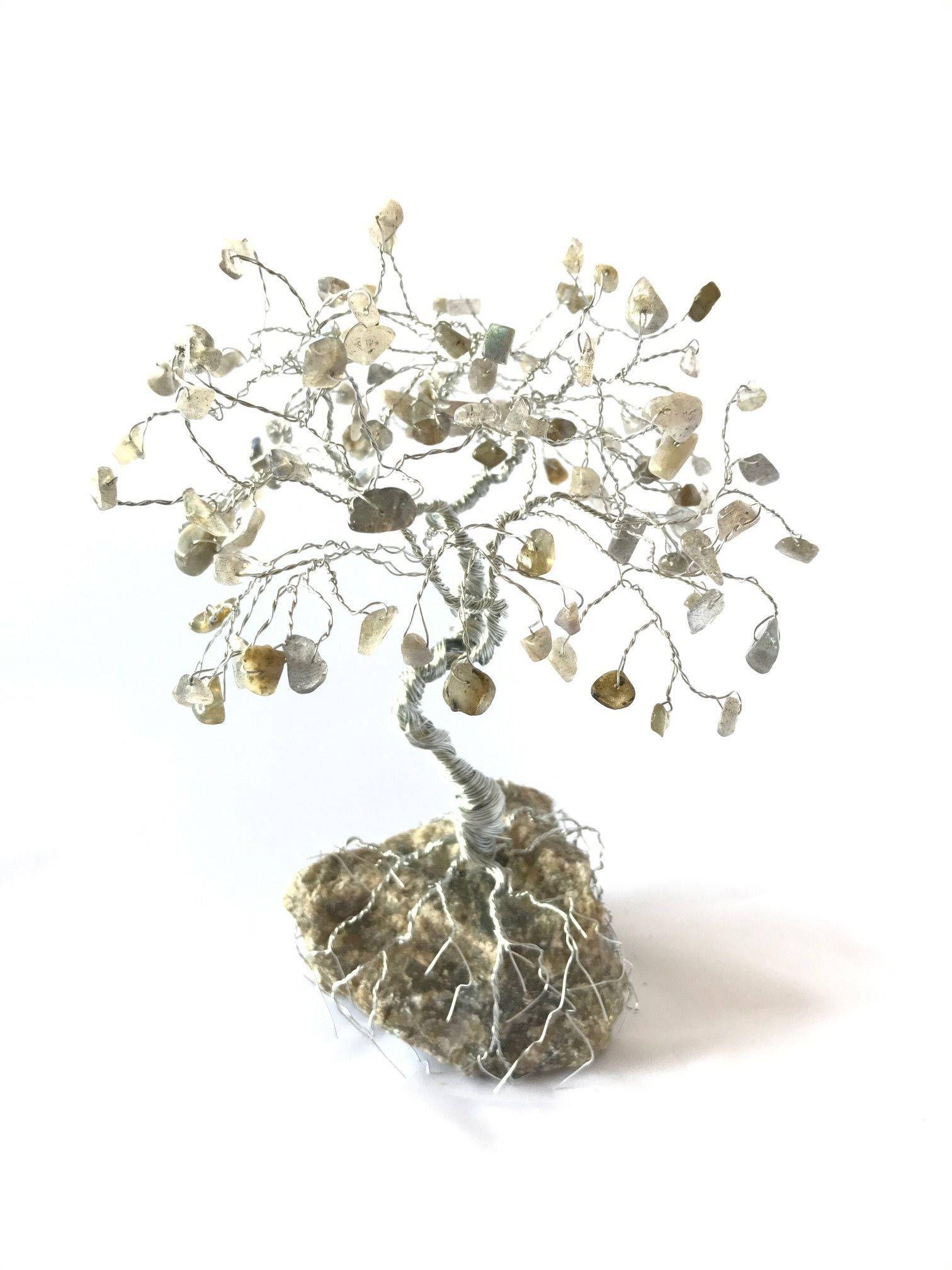 Labradorite Large Gem Tree, Wire Tree Sculpture, Tree of Life, Home ...