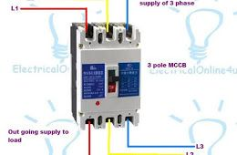 3 pole 4 pole mccb wiring diagrams and instillation simbol rh pinterest com wiring diagram mccb motorized schneider Residential Electrical Wiring Diagrams