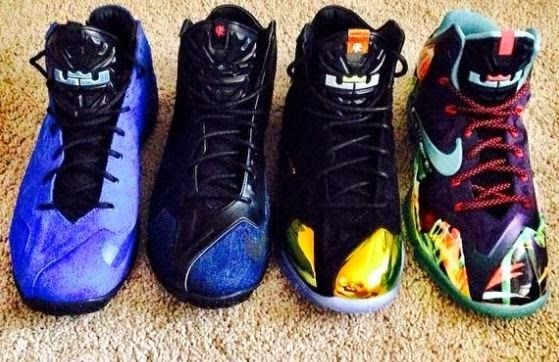 uk availability bf399 f6949 Nike LeBron 11 EXT Collection Including Kings Crown,Blue Suede   Denim  Sneakers (New Images)