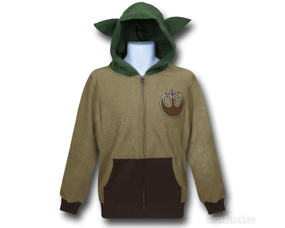 Yoda Jedi Master Wars Movie Inspired Mens Hoodie