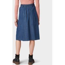 Tom Tailor Damen Jeansrock mit Taschen, blau, unifarben, Gr.38 Tom TailorTom Tailor
