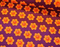 Blomster lilla med solgul jersey