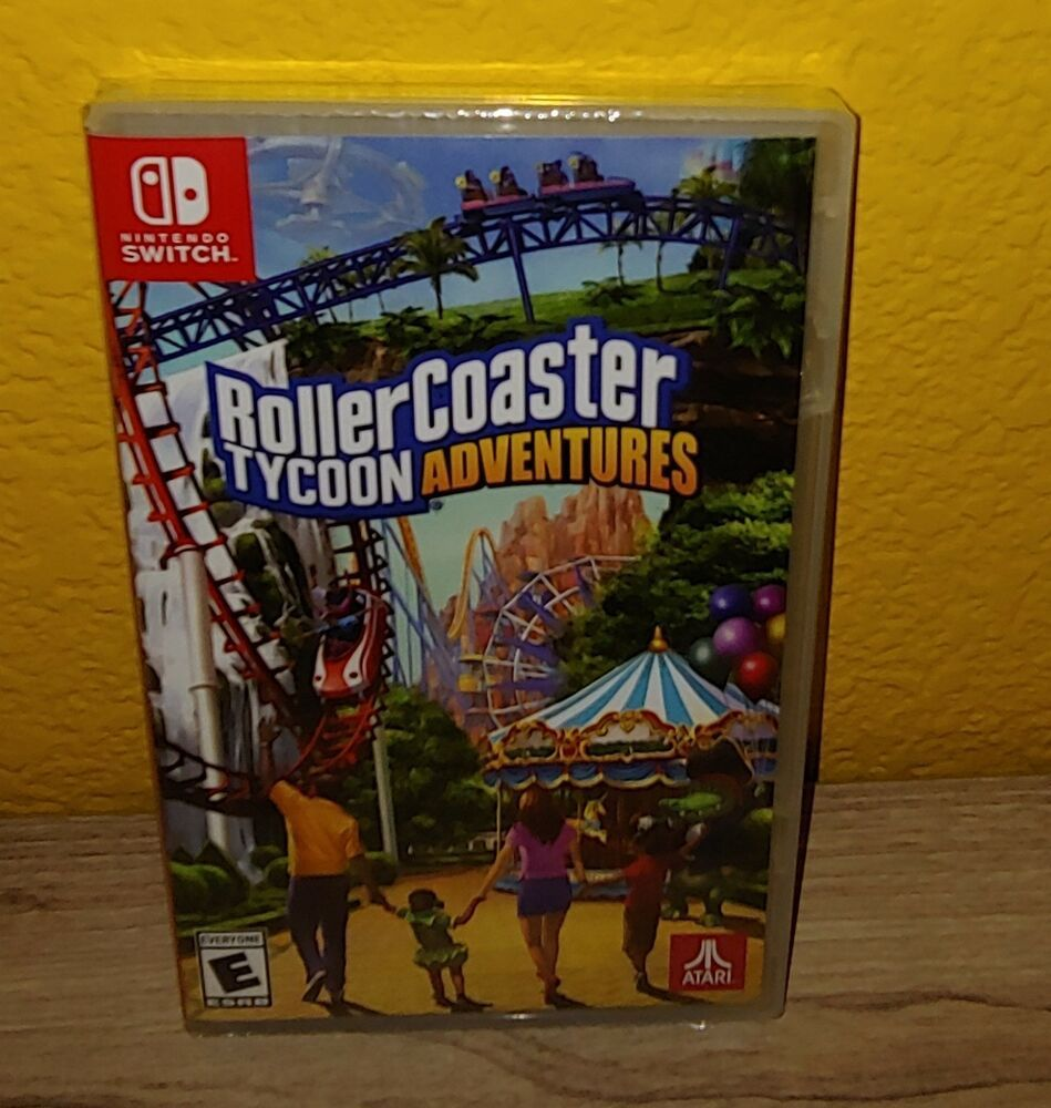 Rollercoaster Tycoon Adventures Nintendo Switch game Brand New in