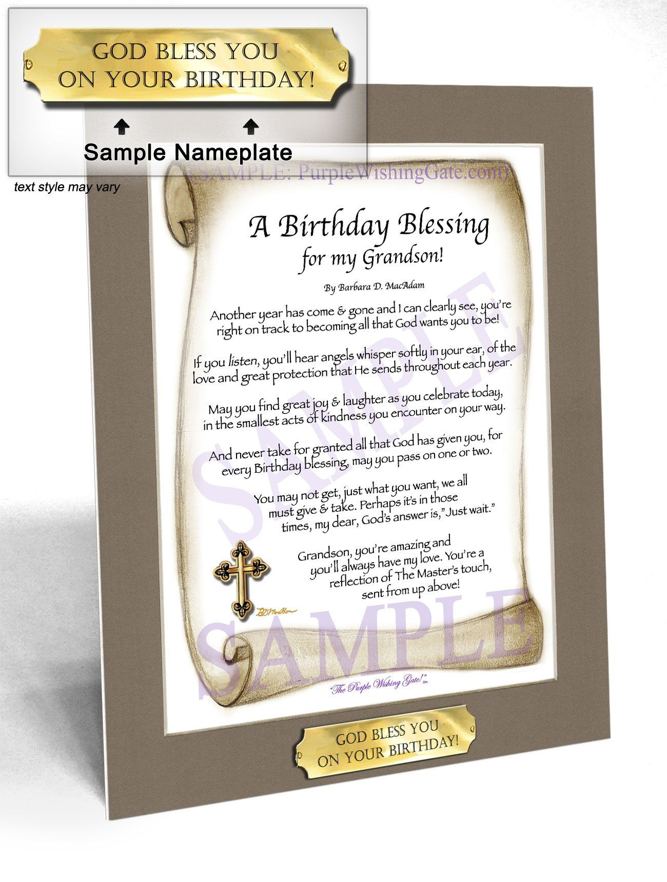 Personalized Poem Gift for that Special Grandson See all styles