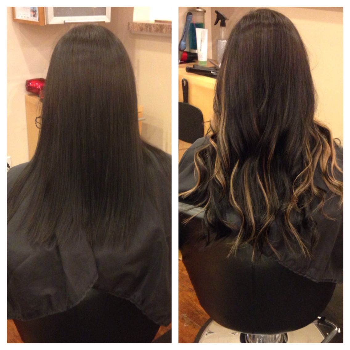 Before And After Babe Hair Extensions Niki Nachodsky Pinterest