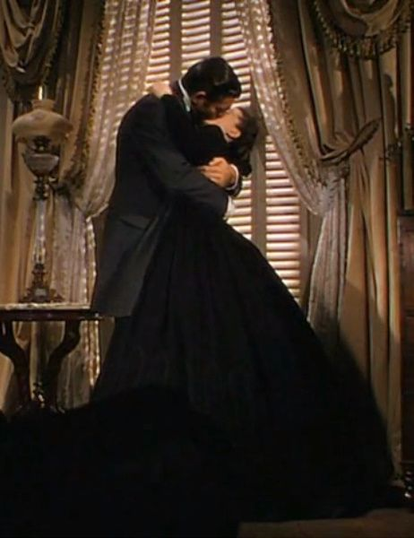 Image result for Gone with the Wind 1939 kissing