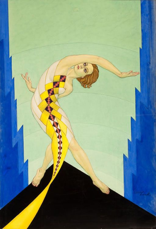 Carl Link - Cover painting for 'The Dance' Magazine  -  Aug 1929