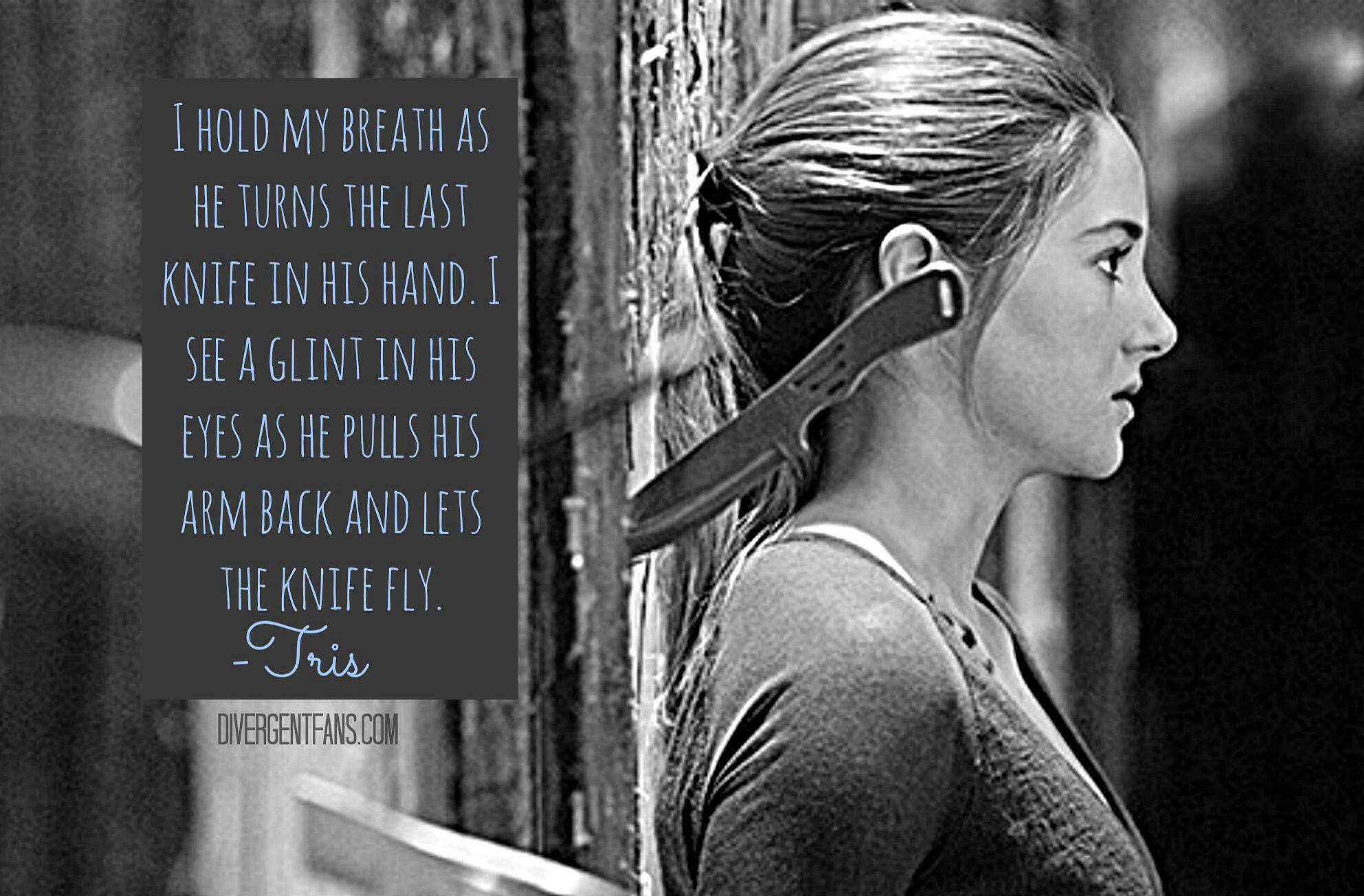 Divergent Tris And The Knives Scene Quote From The Book~
