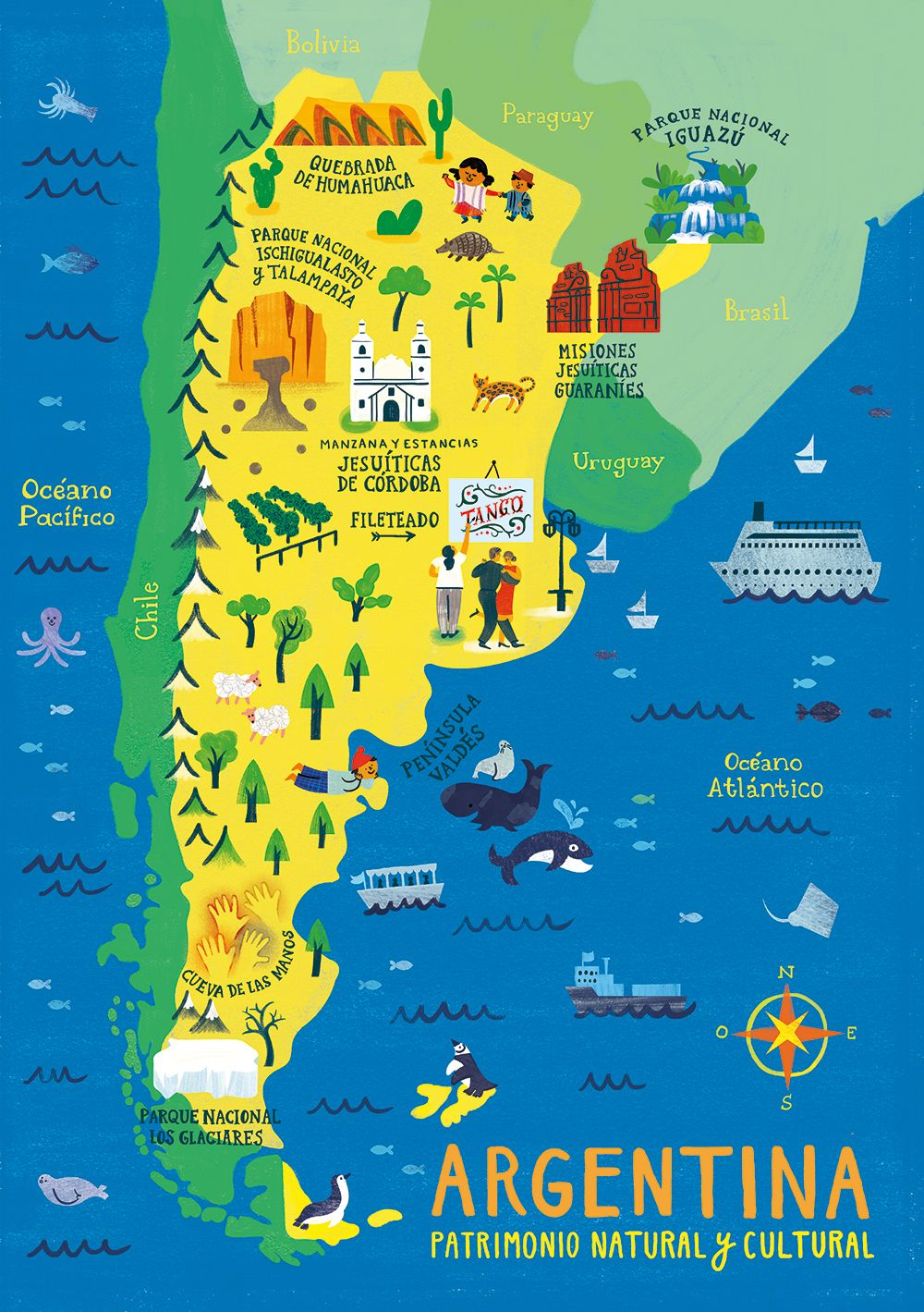 Argentina Map Puzzles on Behance VIAGENS DA MIMI in 2019