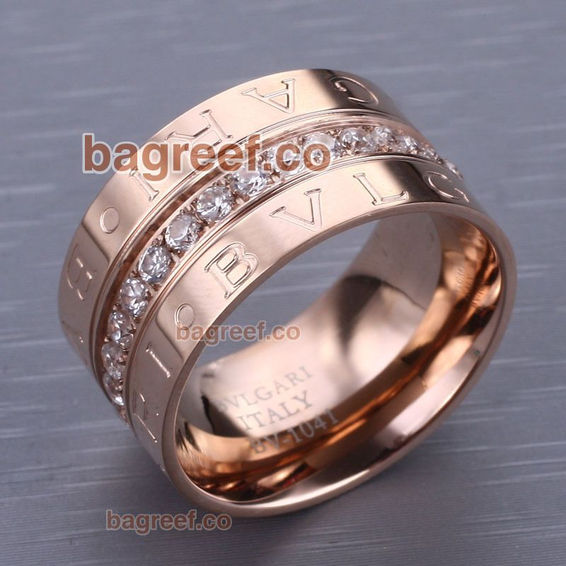 love bvlgari ring of bzero 1 collection in rose gold plated with diamonds