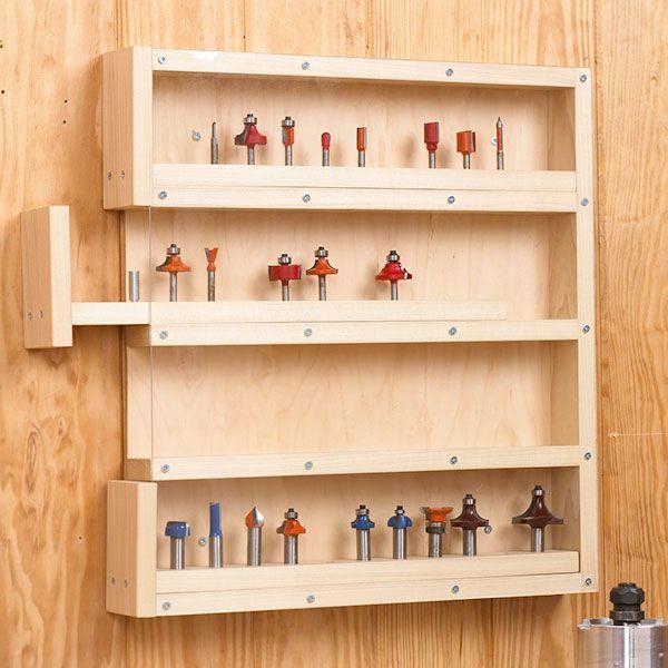 Router Bit Cabinet Storage Woodworking Plan Shop Project
