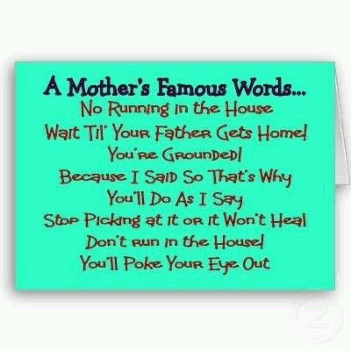 Omg, I said that to my kids!!! ;)