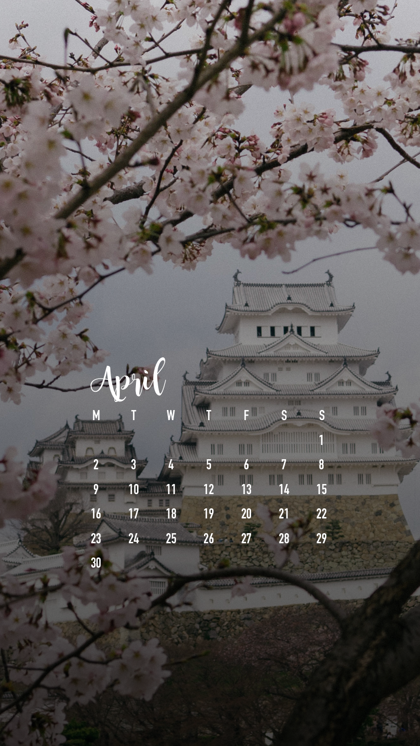 April 2018 Smartphone Wallpaper Calendar Download